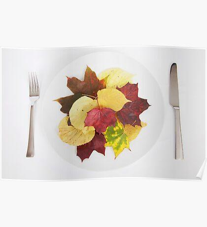 autumn menu Poster