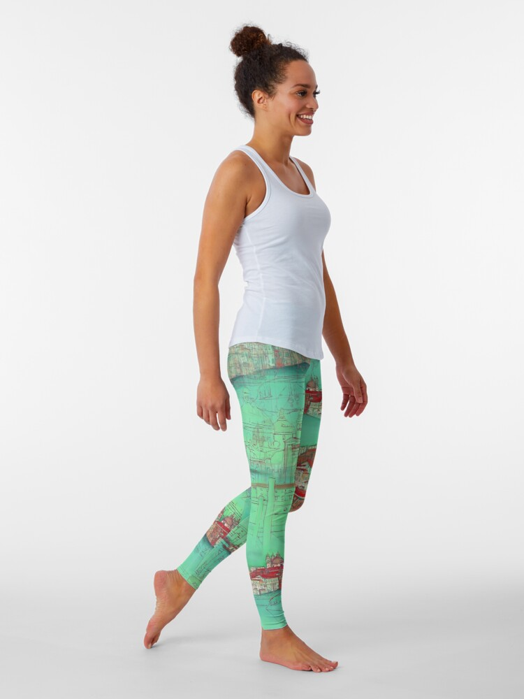 Alternate view of Venetian Green Leggings