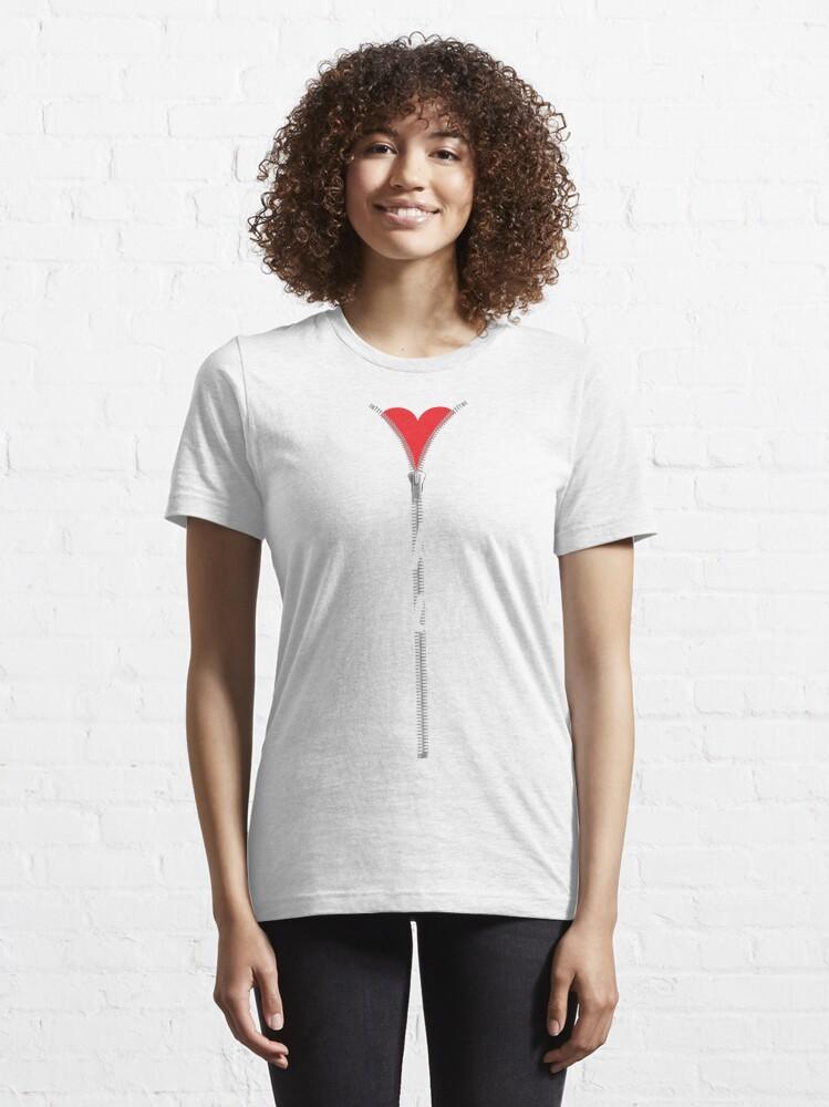 Alternate view of Zipper Club Open Heart Surgery Essential T-Shirt