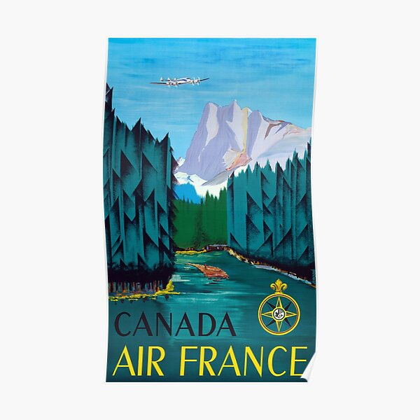 Canada -  Vintage Air France Travel Poster Poster