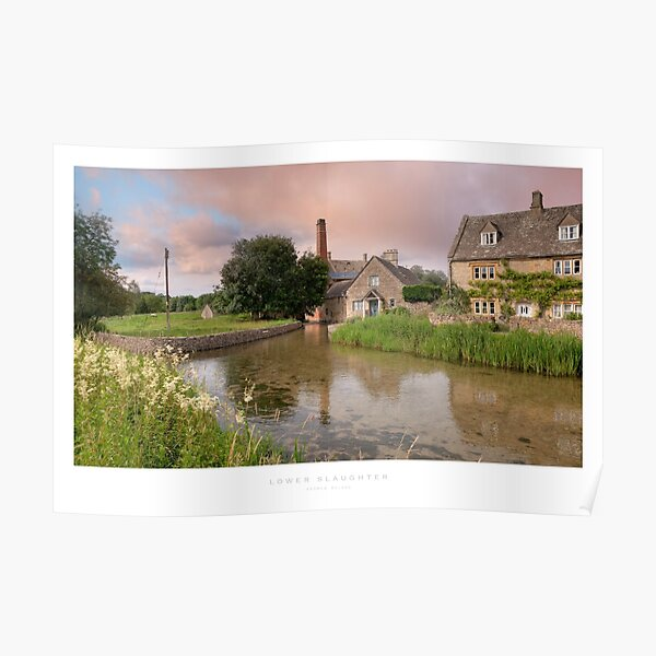 Lower Slaughter, Gloucestershire Poster