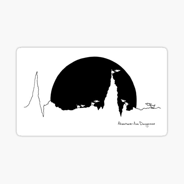 Cows and a Celestial Being on a Heartbeat Mountain Sticker