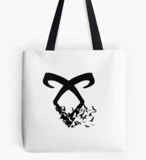 Black Angelic Rune (Birds)  Tote Bag