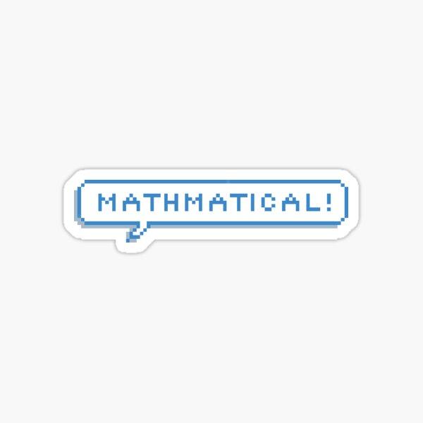 Matemático Pegatina