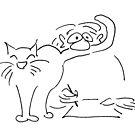 Katzenliebe von cartoonsbyroth