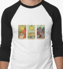 The Sun, The Moon, The Truth [Tarot] Men's Baseball ¾ T-Shirt
