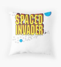 Space Invaders spoof - Spaced Invader Throw Pillow