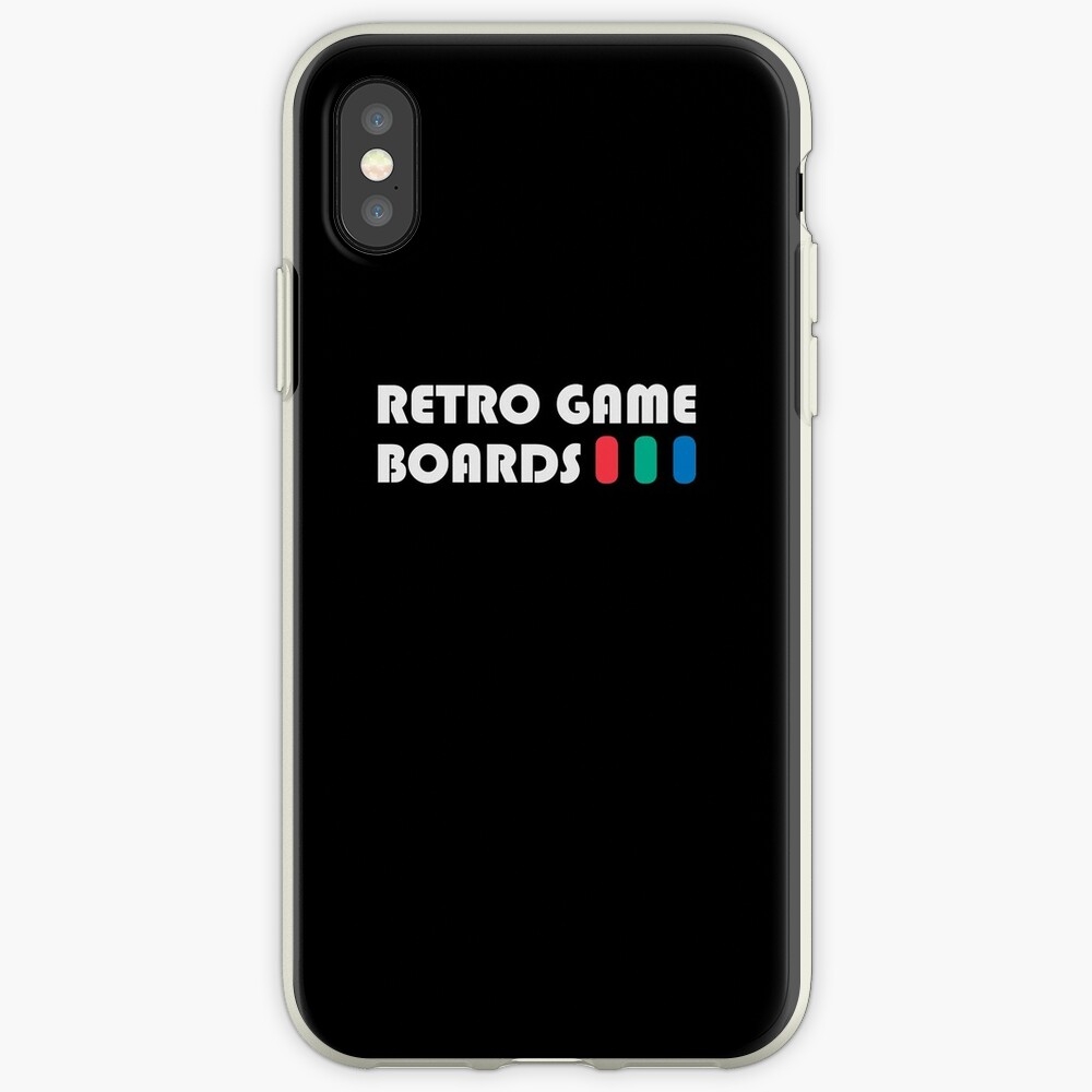 Retro Game Boards - Light Logo iPhone Case & Cover