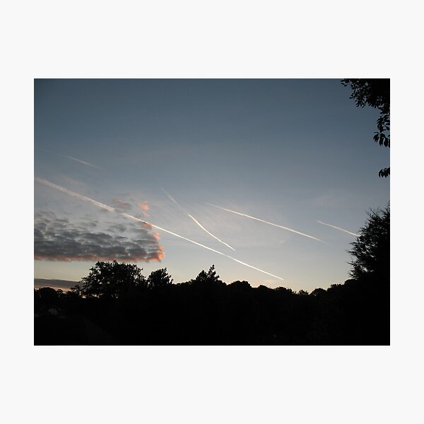 Contrails In The Sky (6903) Photographic Print