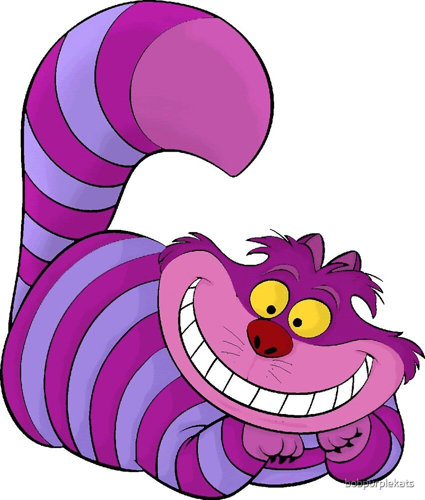 Alice In Wonderland Cheshire Cat By Bobpurplekats Redbubble