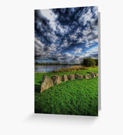 Rocks N' Rolling Clouds Greeting Card