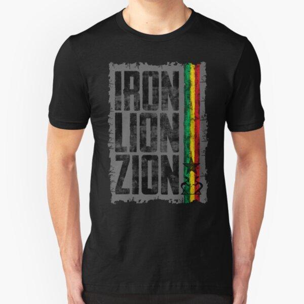 iron lion zion Slim Fit T-Shirt
