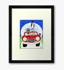 Party Animal on the road Framed Print