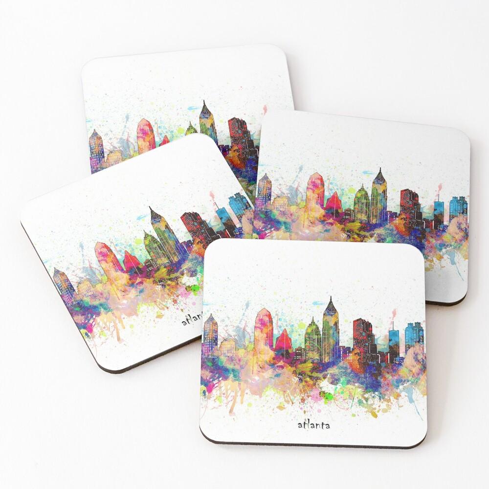 atlanta skyline Coasters (Set of 4)