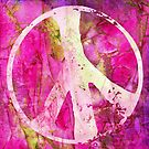 Peace Out in Pink Grunge by MagickMama
