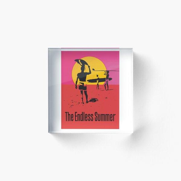Endless Summer, 1966 Surf Sport Documentary Poster, Artwork, Prints, Posters, Tshirts, Men, Women, Kids Acrylic Block