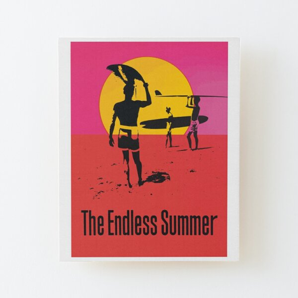 Endless Summer, 1966 Surf Sport Documentary Poster, Artwork, Prints, Posters, Tshirts, Men, Women, Kids Wood Mounted Print
