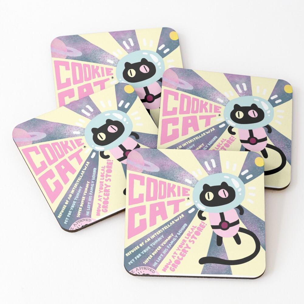 Cookie Cat Coasters (Set of 4)