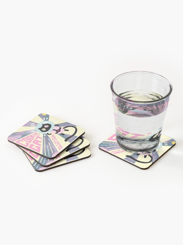 Alternate view of Cookie Cat Coasters (Set of 4)