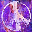 Peace Out in Purple Grunge by MagickMama