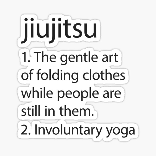 Jiujitsu definition Sticker