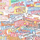 retro chocolate bar collage by DaniEdmunds