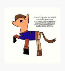 Nathan pony fillion Art Print