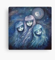 Sisters of the Moon Canvas Print