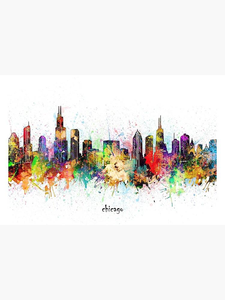 chicago skyline by BekimART