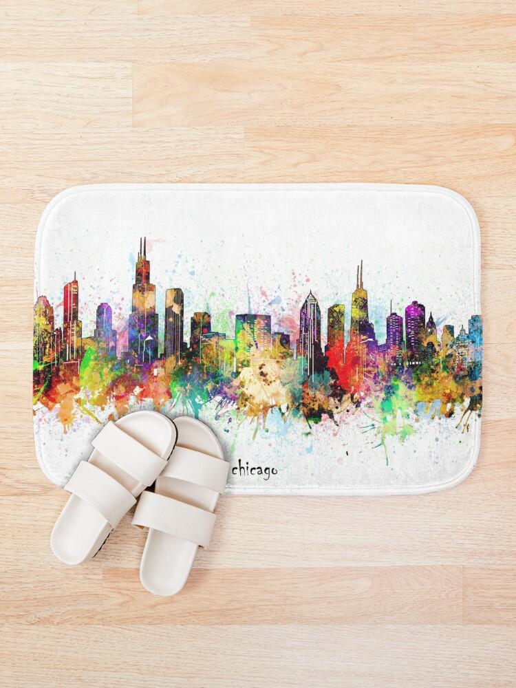 Alternate view of chicago skyline Bath Mat