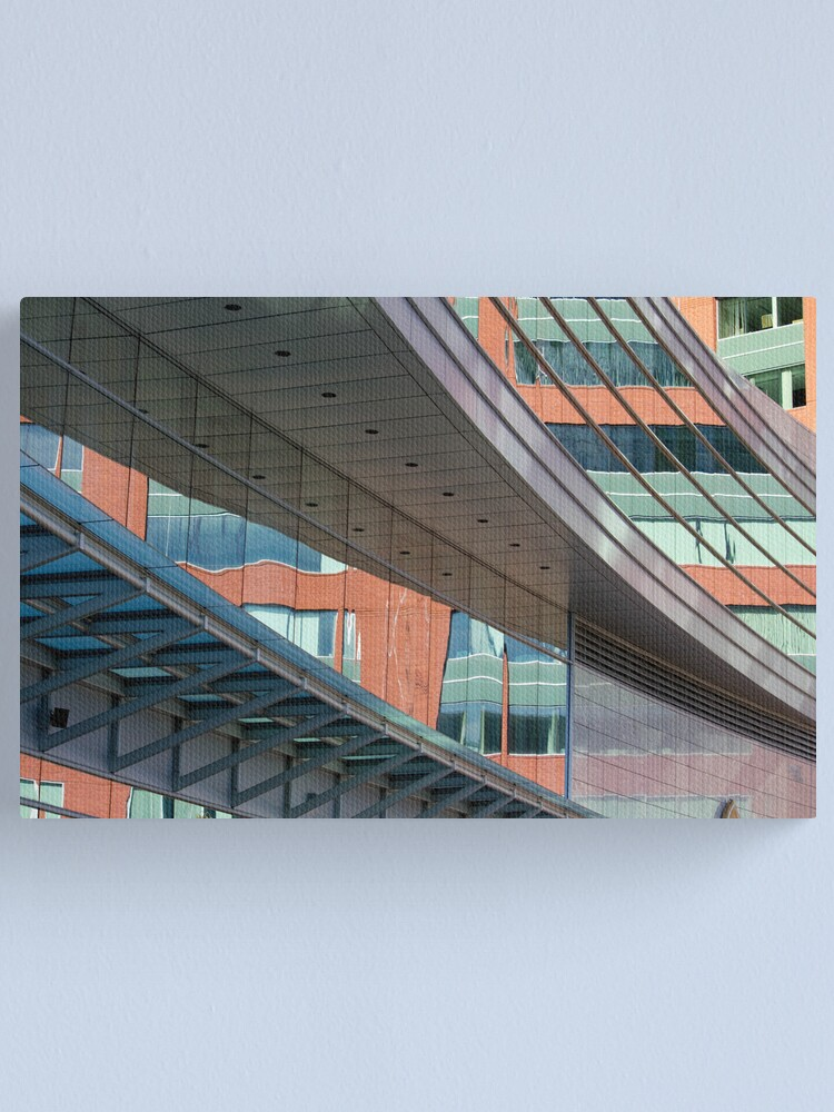 Alternate view of Brick, Steel and Glass Canvas Print