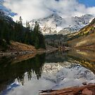 Maroon bells by jeff welton