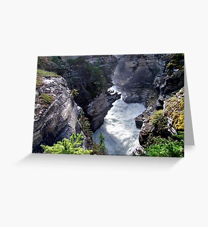 Athabasca River Gorge Greeting Card