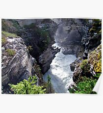Athabasca River Gorge Poster