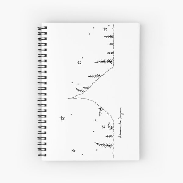 Cows in Mountain Forest Spiral Notebook