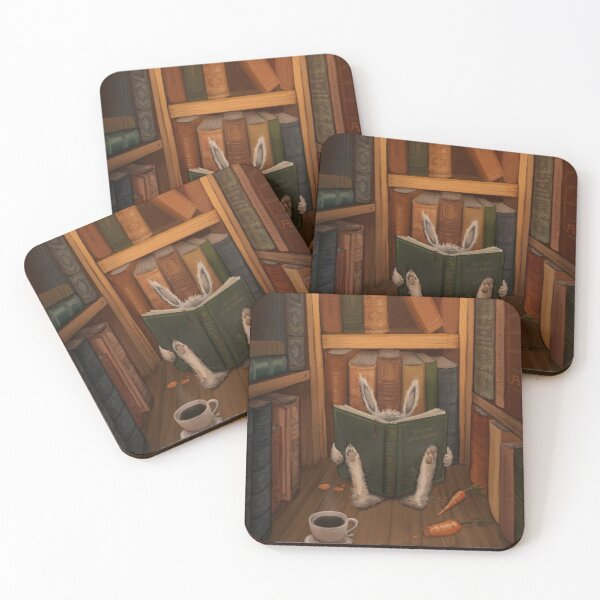The Rabbit's Guide to the Galaxy Coasters (Set of 4)