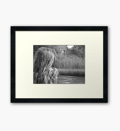 Sea Wind Through Her Hair Framed Print
