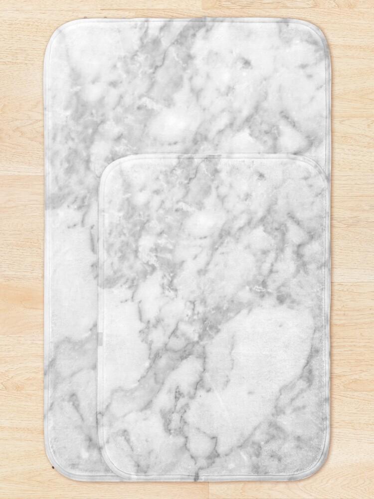Alternate view of White marble Bath Mat