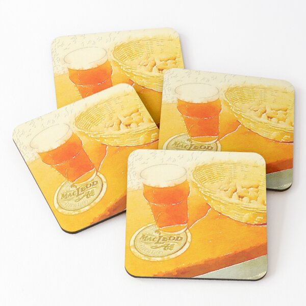 A pint and some peanuts Coasters (Set of 4)