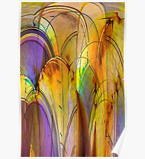 Stained Glass Fountain Poster