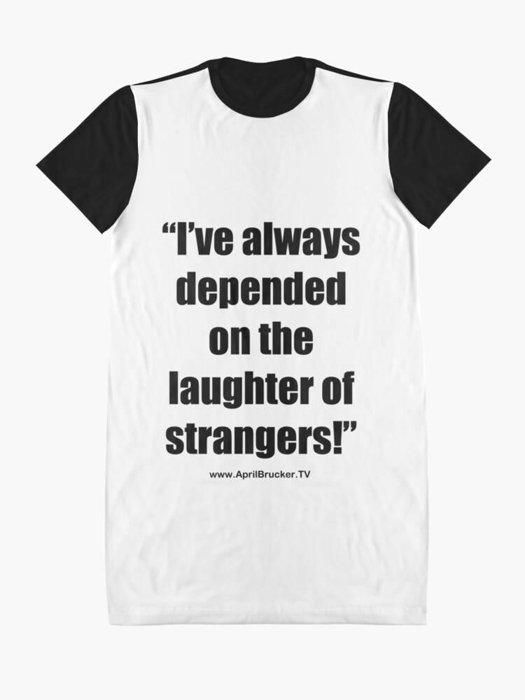 Alternate view of The Laughter of Strangers Graphic T-Shirt Dress
