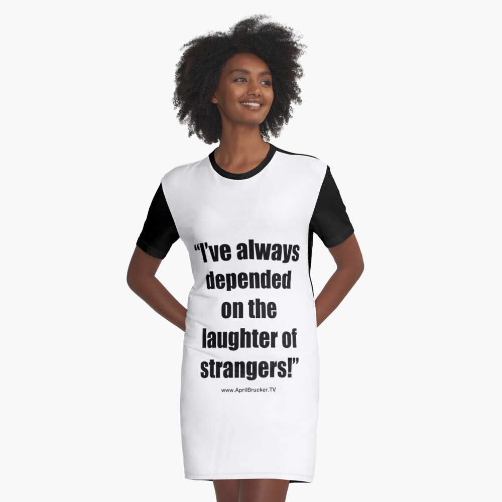 The Laughter of Strangers Graphic T-Shirt Dress