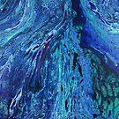 Watersmeet: fluid acrylic pour art; River Delta painting by kerravonsen