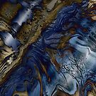 Wood and Water: fluid acrylic pour digital art by kerravonsen