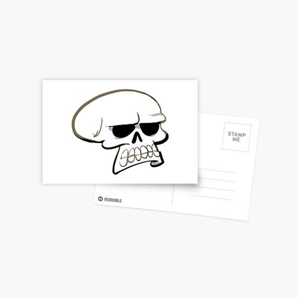 Annoyed Skull Postcard
