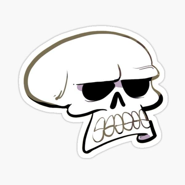 Annoyed Skull Sticker