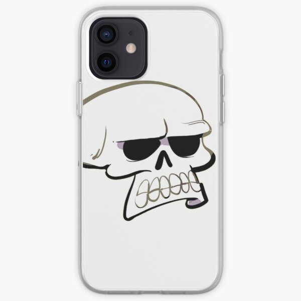 Annoyed Skull iPhone Soft Case
