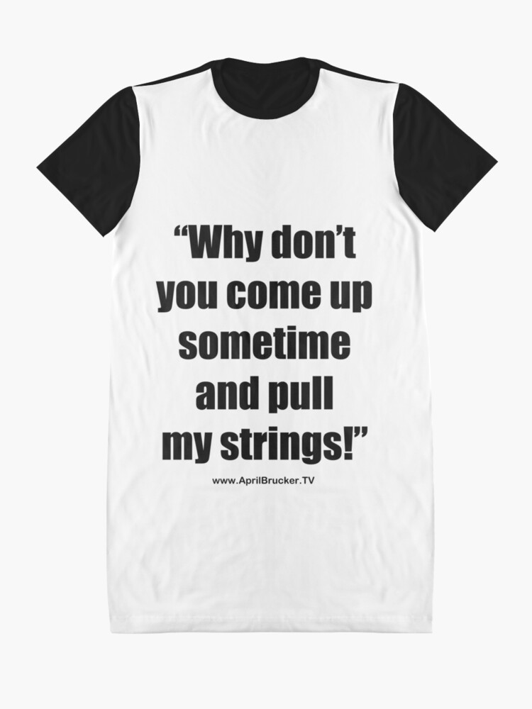 Alternate view of Pull My Strings! Graphic T-Shirt Dress