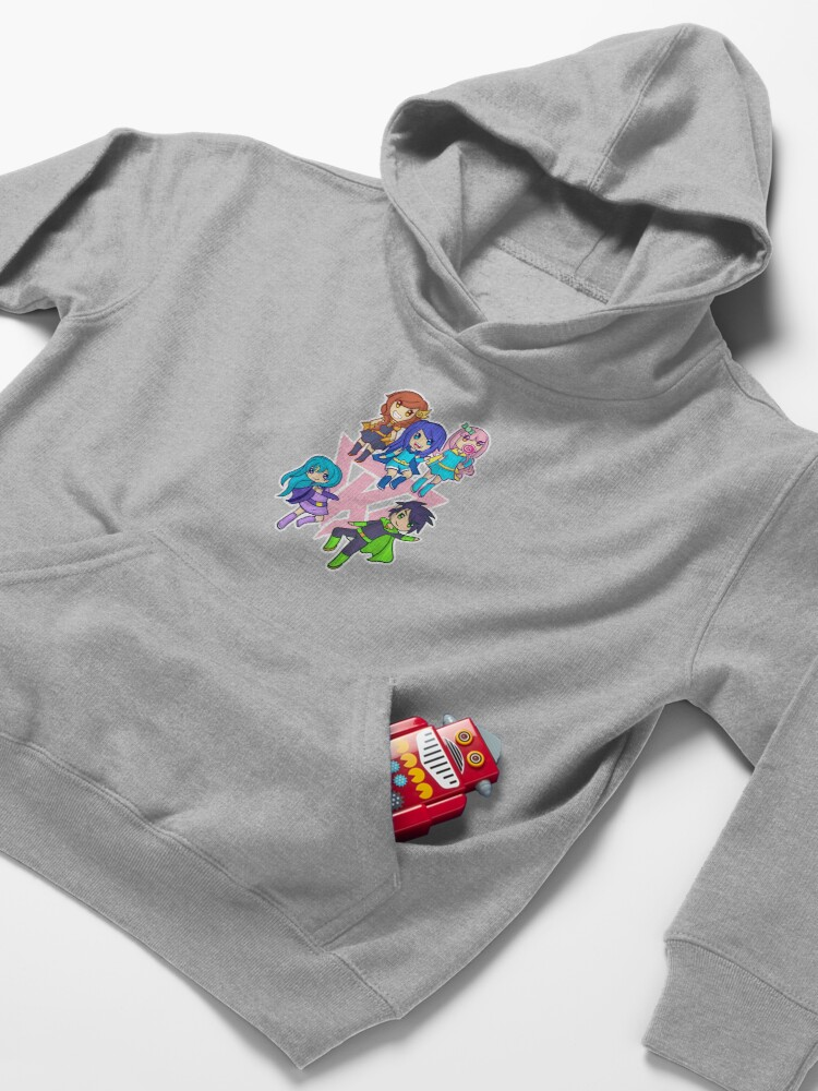 Alternate view of Funneh and the Krew Pink Kids Pullover Hoodie