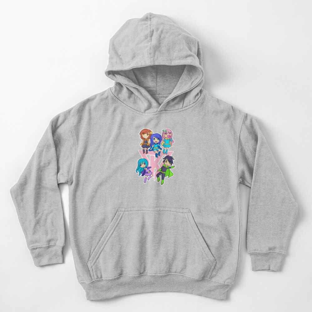 Funneh and the Krew Pink Kids Pullover Hoodie